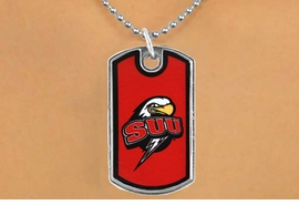 "<Br>                LEAD & NICKEL FREE!!<Br>          STERLING SILVER PLATED!!<bR>   W16991N - LICENSED SOUTHERN<Br>UTAH UNIVERSITY ""THUNDERBIRDS""<Br>          DOG TAG NECKLACE FROM<Br>                       $3.94 TO $8.75"