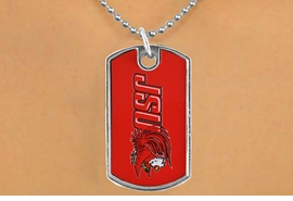 "<Br>                LEAD & NICKEL FREE!!<Br>          STERLING SILVER PLATED!!<bR>W16997N - LICENSED JACKSONVILLE<Br>   STATE UNIVERSITY ""GAMECOCKS""<bR>           DOG TAG NECKLACE FROM<br>                       $1.99"