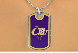 <Br>                 LEAD & NICKEL FREE!!<Br>           STERLING SILVER PLATED!!<bR>W17067N - LICENSED UNIVERSITY OF<Br>MARY HARDIN-BAYLOR CRUSADERS<br>           DOG TAG LOGO  NECKLACE<BR>                 FROM $3.94 TO $8.75