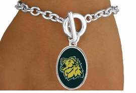 "<Br>           LEAD & NICKEL FREE!!<Br>     STERLING SILVER PLATED!!<bR>W17075B - LICENSED MISSOURI<Br>  SOUTHERN STATE UNIVERSITY<Br>      ""LIONS"" BRACELET FROM<Br>                   $3.94 TO $8.75"