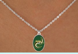 """<Br>                LEAD & NICKEL FREE!!<Br>          STERLING SILVER PLATED!!<bR>   W17100N - LICENSED UNIVERSITY<Br>OF NORTH CAROLINA AT CHARLOTTE<bR> """"FORTY-NINERS"""" NECKLACE FROM<Br>                       $3.94 TO $8.75"""