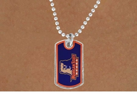 <Br>              LEAD & NICKEL FREE!!<Br>        STERLING SILVER PLATED!!<bR>W17123N - LICENSED MORGAN<Br>      STATE UNIVERSITY BEARS<Br> DOG TAG LOGO NECKLACE FROM<Br>                     $3.94 TO $8.75