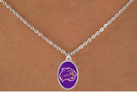 <Br>                 LEAD & NICKEL FREE!!<Br>           STERLING SILVER PLATED!!<bR>        W17130N - LICENSED WESTERN<Br>CAROLINA UNIVERSITY CATAMOUNTS<bR>     NECKLACE FROM $3.94 TO $8.75