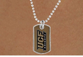 <Br>            LEAD & NICKEL FREE!!<Br>       STERLING SILVER PLATED!!<bR>W17179N - LICENSED<Br> UNIVERSITY OF CENTRAL FLORIDA DOG<bR> TAG NECKLACE FROM $3.94 TO 8.75