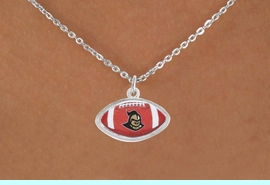 """<Br>                 LEAD & NICKEL FREE!!<Br>           STERLING SILVER PLATED!!<bR>W17586N - LICENSED UNIVERSITY OF<Br>CENTRAL FLORIDA """"KNIGHTS"""" LOGO<Br>    NECKLACE FROM $6.75 TO $15.00"""
