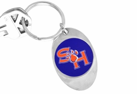 """<Br>                 LEAD & NICKEL FREE!!<Br>           STERLING SILVER PLATED!!<bR>  W19129KC - LICENSED SAM HOUSTON<Br>   UNIVERSITY """"BEARKATS"""" KEY CHAIN<Br>                 FROM $3.35 TO $7.50"""