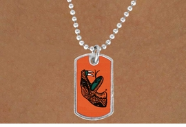 """<Br>               LEAD & NICKEL FREE!!<Br>         STERLING SILVER PLATED!!<bR>  W19522N - LICENSED FLORIDA A&M <Br>UNIVERSITY  """"RATTLERS"""" DOG TAG<br>    NECKLACE FROM $3.94 TO $8.75"""
