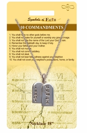 """<Br>               LEAD & NICKEL FREE!!<Br>                SYMBOLS OF FAITH!!<Br>  W15475N - """"10 COMMANDMENTS"""" <Br>          NECKLACE WITH GIFT CARD<Br>    AND ENVELOPE AS LOW AS $6.97"""