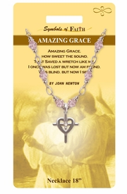"""<Br>               LEAD & NICKEL FREE!!<Br>                 SYMBOLS OF FAITH!!<Br>  W15477N - """"AMAZING GRACE"""" <Br>         NECKLACE WITH GIFT CARD<Br>   AND ENVELOPE AS LOW AS $8.47"""