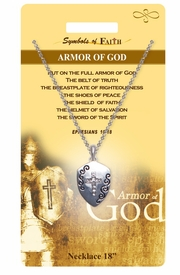 """<Br>               LEAD & NICKEL FREE!!<Br>                SYMBOLS OF FAITH!!<Br>  W15478N - """"ARMOR OF GOD"""" <Br>         NECKLACE WITH GIFT CARD<Br>   AND ENVELOPE AS LOW AS $7.97"""
