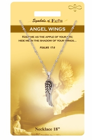 """<Br>               LEAD & NICKEL FREE!!<Br>                SYMBOLS OF FAITH!!<Br>          W15479N - """"ANGEL WINGS"""" <Br>         NECKLACE WITH GIFT CARD<Br>   AND ENVELOPE AS LOW AS $6.97"""