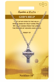 """<Br>               LEAD & NICKEL FREE!!<Br>                SYMBOLS OF FAITH!!<Br>           W15484N - """"GOD'S HELP"""" <Br>         NECKLACE WITH GIFT CARD<Br>   AND ENVELOPE AS LOW AS $6.97"""