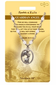 """<Br>               LEAD & NICKEL FREE!!<Br>                SYMBOLS OF FAITH!!<Br>       W15485N - """"GUARDIAN ANGEL"""" <Br>         NECKLACE WITH GIFT CARD<Br>   AND ENVELOPE AS LOW AS $8.47"""