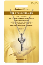 """<Br>               LEAD & NICKEL FREE!!<Br>                SYMBOLS OF FAITH!!<Br>  W15495N - """"THE KEYS OF HEAVEN"""" <Br>         NECKLACE WITH GIFT CARD<Br>   AND ENVELOPE AS LOW AS $7.97"""