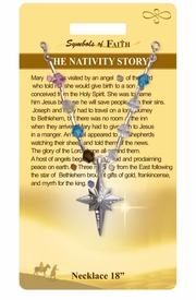 """<Br>               LEAD & NICKEL FREE!!<Br>                SYMBOLS OF FAITH!!<Br>  W15496N - """"THE NATIVITY STORY"""" <Br>         NECKLACE WITH GIFT CARD<Br>   AND ENVELOPE AS LOW AS $8.47"""