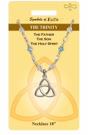 """<Br>               LEAD & NICKEL FREE!!<Br>                SYMBOLS OF FAITH!!<Br>           W15497N - """"THE TRINITY"""" <Br>         NECKLACE WITH GIFT CARD<Br>   AND ENVELOPE AS LOW AS $8.47"""