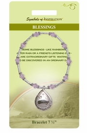 "<Br>               LEAD & NICKEL FREE!!<Br>        SYMBOLS OF INSPIRATION!!<Br> W15338B - ""BLESSINGS"" FILIGREE<Br>TEARDROP BEADED BRACELET WITH<Br>          GIFT CARD AND ENVELOPE<Br>                    AS LOW AS $9.47"