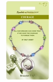 "<Br>                  LEAD & NICKEL FREE!!<Br>          SYMBOLS OF INSPIRATION!!<Br>W15340B - ""COURAGE"" MULTI COLOR<Br>   BEADED BRACELET WITH GIFT CARD<Br>      AND ENVELOPE AS LOW AS $9.47"
