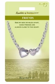 "<Br>               LEAD & NICKEL FREE!!<Br>       SYMBOLS OF INSPIRATION!!<Br>   W15346B - ""FRIENDS"" DOUBLE<Br>HEART BRACELET WITH GIFT CARD<Br> AND ENVELOPE AS LOW AS $6.47"