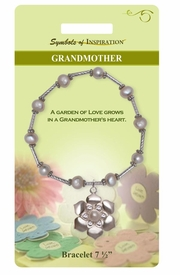 "<Br>               LEAD & NICKEL FREE!!<Br>       SYMBOLS OF INSPIRATION!!<Br>      W15347B - ""GRANDMOTHER""<Br>AUSTRIAN CRYSTAL & FAUX PEARL<bR>    FLOWER DROP BRACELET WITH<Br>         GIFT CARD AND ENVELOPE<bR>                   AS LOW AS $6.97"
