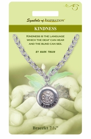 "<Br>                 LEAD & NICKEL FREE!!<Br>         SYMBOLS OF INSPIRATION!!<Br> W15350B - ""KINDNESS"" AUSTRIAN<Br>CRYSTAL BRACELET WITH GIFT CARD<Br>    AND ENVELOPE AS LOW AS $6.47"