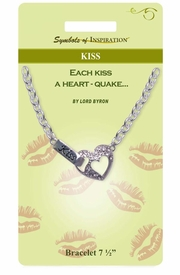 "<Br>          LEAD & NICKEL FREE!!<Br>   SYMBOLS OF INSPIRATION!!<Br>W15351B - AUSTRIAN CRYSTAL<Br>""KISS"" HEART BRACELET WITH<Br>     GIFT CARD AND ENVELOPE<bR>               AS LOW AS $6.47"