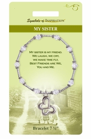 "<Br>                LEAD & NICKEL FREE!!<Br>        SYMBOLS OF INSPIRATION!!<Br>W15361B - ""MY SISTER"" BUTTERFLY<Br>   HEART BRACELET WITH GIFT CARD<Br>    AND ENVELOPE AS LOW AS $8.47"