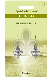 <Br>              LEAD & NICKEL FREE!!<Br>       SYMBOLS OF INSPIRATION!!<Br>    W15406E - AUSTRIAN CRYSTAL<Br>ACCENTED FLEUR DE LIS EARRINGS<Br>   WITH GIFT CARD AND ENVELOPE<BR>                   AS LOW AS $5.47