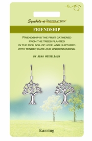 """<Br>           LEAD & NICKEL FREE!!<Br>    SYMBOLS OF INSPIRATION!!<Br>W15407E - """"FRIENDSHIP"""" TREE<Br>EARRINGS WITH GIFT CARD AND<Br>    ENVELOPE AS LOW AS $5.47"""