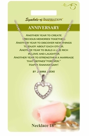 """<Br>                  LEAD & NICKEL FREE!!<Br>           SYMBOLS OF INSPIRATION!!<Br>W15435N - """"ANNIVERSARY"""" AUSTRIAN<Br> CRYSTAL HEART NECKLACE WITH GIFT<BR>CARD AND ENVELOPE AS LOW AS $8.47"""