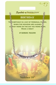 """<Br>                  LEAD & NICKEL FREE!!<Br>          SYMBOLS OF INSPIRATION!!<Br>W15438N - """"MAKE A WISH"""" BIRTHDAY<Br>      NECKLACE WITH GIFT CARD AND<Br>           ENVELOPE AS LOW AS $6.97"""