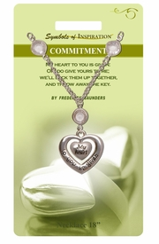 """<Br>                 LEAD & NICKEL FREE!!<Br>         SYMBOLS OF INSPIRATION!!<Br>W15440N - """"COMMITMENT"""" HEART<Br>   DROP NECKLACE WITH GIFT CARD<BR>   AND ENVELOPE AS LOW AS $7.97"""