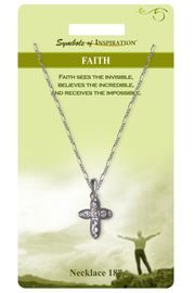 """<Br>              LEAD & NICKEL FREE!!<Br>      SYMBOLS OF INSPIRATION!!<Br>   W15445N - """"FAITH"""" AUSTRIAN<Br>CRYSTAL CROSS NECKLACE WITH<BR>        GIFT CARD AND ENVELOPE<Br>                  AS LOW AS $7.97"""