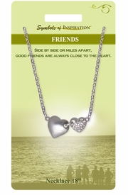 """<Br>               LEAD & NICKEL FREE!!<Br>        SYMBOLS OF INSPIRATION!!<Br>W15448N - """"FRIEND"""" SILVER TONE<BR>AND AUSTRIAN CRYSTAL ACCENTED<Br> HEART NECKLACE WITH GIFT CARD<Br>  AND ENVELOPE AS LOW AS $7.97"""