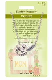 "<Br>             LEAD & NICKEL FREE!!<Br>      SYMBOLS OF INSPIRATION!!<Br>  W15460N - ""MOTHER"" FLOWER<Br>       NECKLACE WITH GIFT CARD<Br>AND ENVELOPE AS LOW AS $7.97"