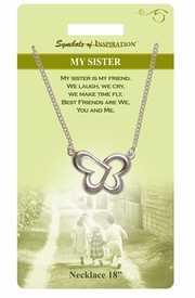 "<Br>               LEAD & NICKEL FREE!!<Br>        SYMBOLS OF INSPIRATION!!<Br>               W15465N - ""MY SISTER"" <Br>         NECKLACE WITH GIFT CARD<Br>   AND ENVELOPE AS LOW AS $6.97"
