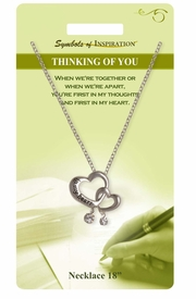 """<Br>               LEAD & NICKEL FREE!!<Br>        SYMBOLS OF INSPIRATION!!<Br>   W15468N - """"THINKING OF YOU"""" <Br>         NECKLACE WITH GIFT CARD<Br>   AND ENVELOPE AS LOW AS $6.97"""
