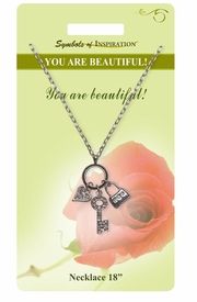 """<Br>               LEAD & NICKEL FREE!!<Br>        SYMBOLS OF INSPIRATION!!<Br>  W15474N - """"YOU ARE BEAUTIFUL"""" <Br>         NECKLACE WITH GIFT CARD<Br>   AND ENVELOPE AS LOW AS $7.97"""