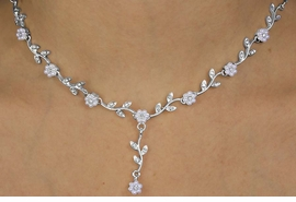 <BR>                    LEAD & NICKEL FREE!!<BR>THE BRIDESMAIDS CELEBRATION OF LOVE<bR> W12314NE - ELEGANT FAUX PEARL &<Br>GENUINE AUSTRIAN CRYSTAL FLOWER<Br>            NECKLACE & EARRING SET<br>                 FROM $13.81 TO $25.50