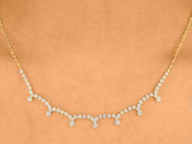 <BR>                   LEAD & NICKEL FREE<bR> W10175NE - POLISHED GOLD FINISH<Br>CLEAR AUSTRIAN CRYSTAL NECKLACE<Br> & EARRINGS FROM $11.38 TO $21.00