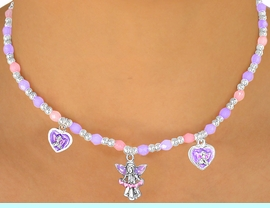 """<bR>                LEAD & NICKEL FREE!!<Br>W10460NBRA - CHILDREN'S LEAD &<Br>    NICKEL FREE """"ANGELS"""" STRETCH<Br>  NECKLACE, BRACELET, & RING SET<bR> ASSORTMENT FROM $9.68 EACH"""