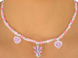 "<bR>                LEAD & NICKEL FREE!!<Br>W10460NBRA - CHILDREN'S LEAD &<Br>    NICKEL FREE ""ANGELS"" STRETCH<Br>  NECKLACE, BRACELET, & RING SET<bR> ASSORTMENT FROM $9.68 EACH"