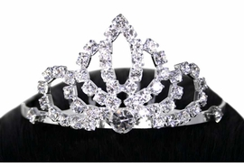 <Br>   LEAD & NICKEL FREE!!<Br> W11811T - ELEGANT GENUINE <BR>    AUSTRIAN CRYSTAL<Br>     TIARA HAIR COMB <br>       AS LOW AS $4.64
