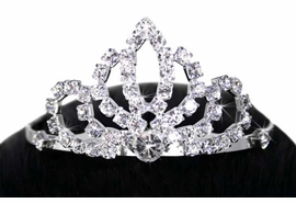 <Br>                           LEAD & NICKEL FREE!!<Br> W11811T - ELEGANT GENUINE AUSTRIAN CRYSTAL<Br>              TIARA HAIR COMB FROM $7.38 Each