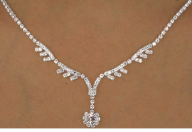 <Br>             LEAD & NICKEL FREE!!<Br>W12489NE - GENUINE AUSTRIAN<br>  CRYSTAL VINE & FLOWER DROP<Br>       NECKLACE & EARRING SET<Br>          FROM $21.13 TO $39.00