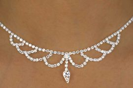 <br>            LEAD & NICKEL FREE!!<Br>W12490NE - GENUINE AUSTRIAN<Br>    CRYSTAL WAVES & INVERTED<Br>TEARDROP NECKLACE & EARRING<Br>     SET FROM $21.13 TO $39.00