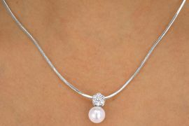 <bR>           LEAD & NICKEL FREE!!<Br>   W12558NE - GENUINE CUBIC<Br>    ZIRCONIA STONE FLOWER &<Br>       FAUX PEARL NECKLACE &<Br>              EARRING SET FROM<Br>                $23.56 TO $43.50