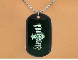 "<Br>              LEAD & NICKEL FREE!!<Br>   W12616N - BLACK ""CHOPPERS""<Br>DOG TAG & BALL CHAIN NECKLACE<Br>               FROM $3.45 TO $7.50"