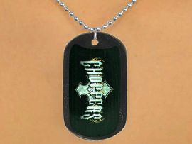 """<Br>              LEAD & NICKEL FREE!!<Br>   W12616N - BLACK """"CHOPPERS""""<Br>DOG TAG & BALL CHAIN NECKLACE<Br>               FROM $3.45 TO $7.50"""