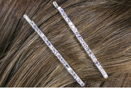 <Br>                   LEAD & NICKEL FREE!!<Br>            W12660HJ - 2MM GENUINE<Br>        AUSTRIAN CRYSTAL BOBBY PIN<Br>2-PIECE SET FROM $4.38 EACH SET OF 2